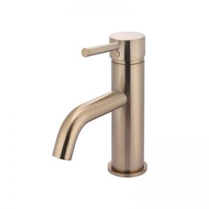 Round Curver Champagne Basin Mixer