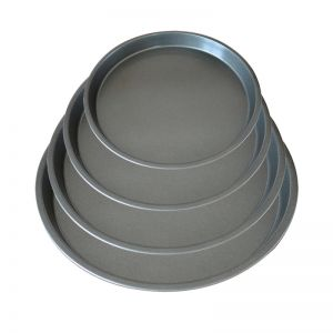 Round Non-stick Pizza Tray Oven Baking Plate Pan Set | Black Steel