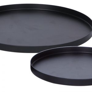 Round Tray Set of 2 | Black | By Zakkia