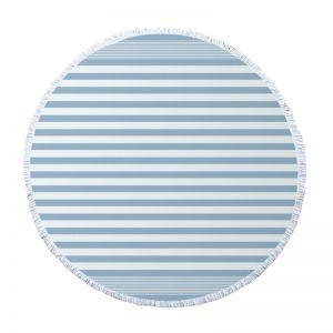 Round Turkish Towel l Dusty Blue