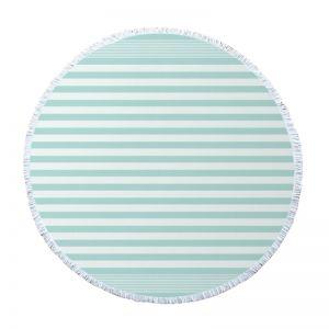 Round Turkish Towel l Mint Sorbet