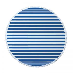 Round Turkish Towel l Santorini Blue