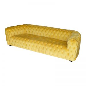 Roundback Beautico | Yellow Velvet | Chesterfield Five Seat Lounge