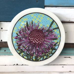 Roundy Woodblock | Rose Coneflower