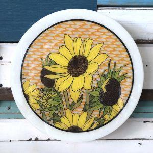 Roundy Woodblock | Sunflower