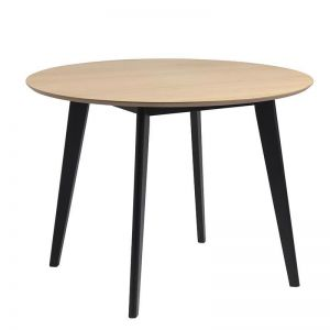 Roxby Dining Table | 105cm | Natural & Black