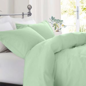 Royal Comfort 1000TC Cotton Blend Quilt Cover Set | Queen | Green Mist