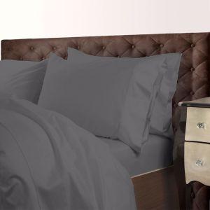 Royal Comfort 1000TC Cotton Blend Quilt Cover Sets   Charcoal   Various Sizes