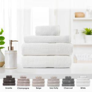 Royal Comfort Cotton Bamboo Towel 4pc Set | Various Colours