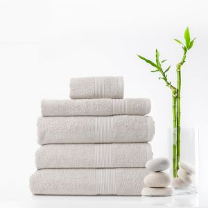 Royal Comfort Cotton Bamboo Towel 5pc Set | Various Colours