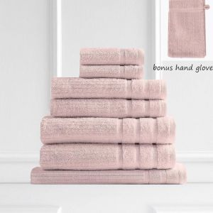 Royal Comfort Eden 600GSM 100% Egyptian Cotton 8 Piece Towel Pack | Blush