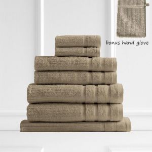 Royal Comfort Eden 600GSM 100% Egyptian Cotton 8 Piece Towel Pack | Champagne Rose