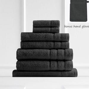 Royal Comfort Eden 600GSM 100% Egyptian Cotton 8 Piece Towel Pack | Graphite