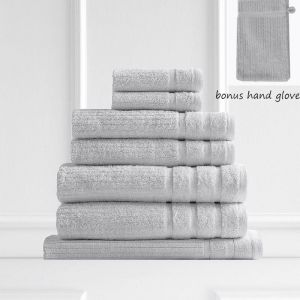 Royal Comfort Eden 600GSM 100% Egyptian Cotton 8 Piece Towel Pack | Sea Holly