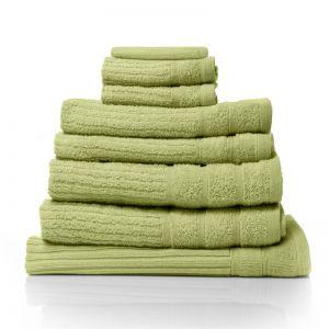 Royal Comfort Eden 600GSM 100% Egyptian Cotton 8 Piece Towel Pack | Spearmint