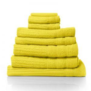 Royal Comfort Eden 600GSM 100% Egyptian Cotton 8 Piece Towel Pack | Yellow