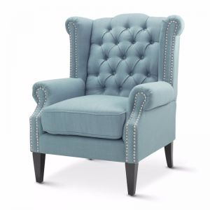 Royal Wingback Armchair | Teal | by Black Mango