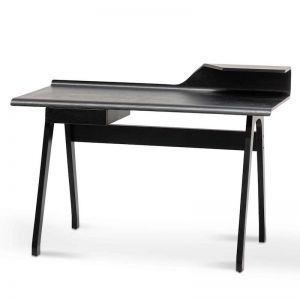 Ruban Wooden Home Office Desk | Black