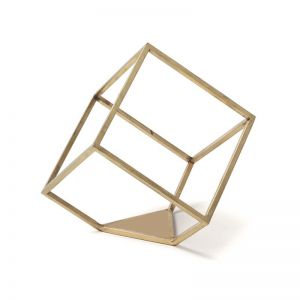 Rubix Line Wall Sculpture | Gold