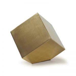 Rubix Skewed Wall Sculpture | Gold