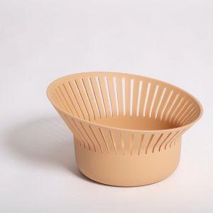 Ruff Bread Basket   Terracotta