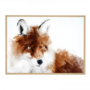 Russet Fox | Framed Art Print