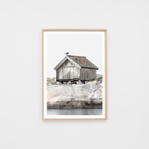 Rustic Boathouse | Framed Photographic Print