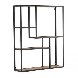 Ruthin Wall Bookcase | Black & Natural