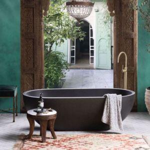 Ryeze Terrazzo Stone Bath 1600mm   Charcoal
