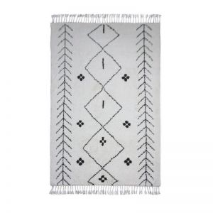 Sabina | Ivory Hand Knotted Moroccan Style Rug
