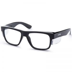 SafeStyle Fusions Black Frame | Clear UV400 Lens