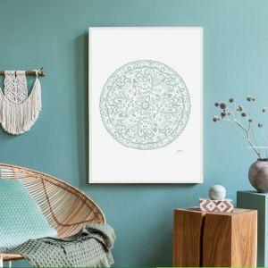 Sahara Décor Mandala in Haze Fine Art Print | By Pick a Pear | Framed