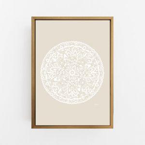 Sahara Decor Mandala in Ivory Solid Wall Art Print | by Pick a Pear | Canvas