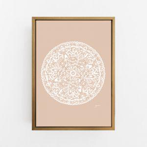 Sahara Decor Mandala in Light Blush Solid Wall Art Print | by Pick a Pear | Canvas
