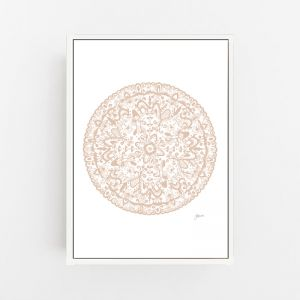 Sahara Decor Mandala in Light Blush Wall Art Print by Pick a Pear | Canvas