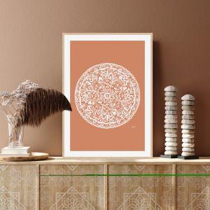 Sahara Décor Mandala in Sandstone Solid Fine Art Print | by Pick a Pear | Framed