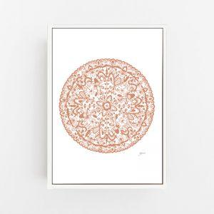 Sahara Decor Mandala in Sandstone Wall Art Print | by Pick a Pear | Canvas