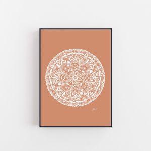 Sahara Decor Mandala in Solid Sandstone Wall Art Print by Pick a Pear | Unframed