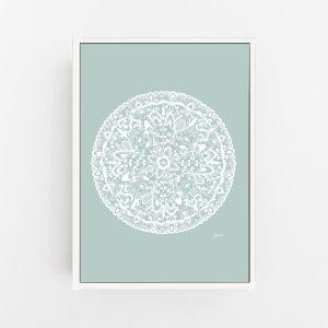Sahara Mandala in Haze Solid Print by Pick a Pear | Canvas or Art Print