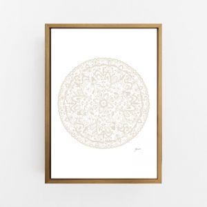Sahara Mandala in Ivory Print by Pick a Pear | Canvas Wall Art
