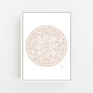 Sahara Mandala in Light Blush Print by Pick a Pear | Canvas Wall Art