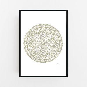 Sahara Mandala in Sage Print by Pick a Pear | Canvas or Art Print