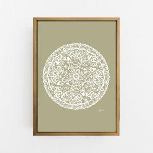 Sahara Mandala in Sage Solid Print by Pick a Pear | Canvas or Art Print