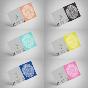 Sahara Solid Decor Mandala Frame It Designer Greeting Gift Card   6 Pack   155x155mm