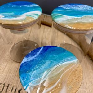Sail Away Beach Resin Canister | Set of 3