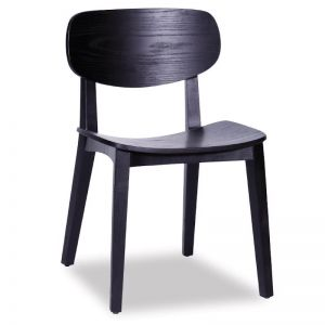 Saki Dining Chair | Black Stained Ash