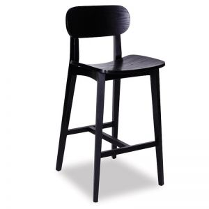 Saki Kitchen Bar Stool | Black Stained Ash