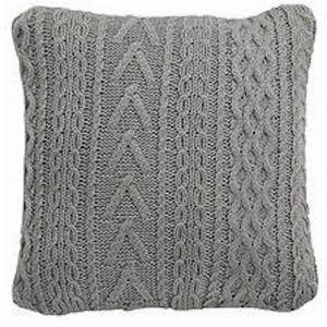 Sakura Cable Knit Cushion | Light Grey | Modern Furniture