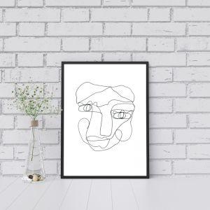 Sal  | One Line Art Print | Jess Marney Design