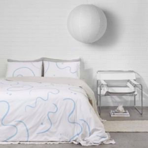 Salento Quilt Cover Set | Queen | Blue & Clay